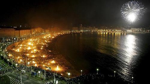 Hogueras en La Coruña