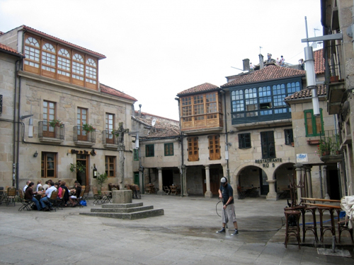 pontevedra, plazas casco historico