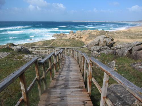 pasarela acceso playa corrubedo